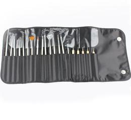 Canada Ongles Pinceaux Ensembles 20pc / set Dotting Peinture Dessin Polonais Stylo Beauté Outils Kit avec sac en cuir GGA1787 Offre