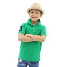 Crianças esporte on-line-Infantil Do Bebê Crianças Roupas de marca criança Tops Tees Polos meninos meninas esportes T-shirt fatos de treino menino menina t shirt Camiseta de polo