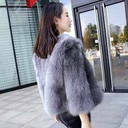2019 fox skinning Alta qualidade pele inteira casaco de pele de raposa mulheres casaco de pele natural outerwear novo 2019 outono inverno desconto fox skinning