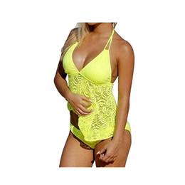 Gelb Damen Sport Swim Shirt Fashion Beach Bikini Set Zweiteiler Party Swim Pool Hosen und Oberteile von Fabrikanten