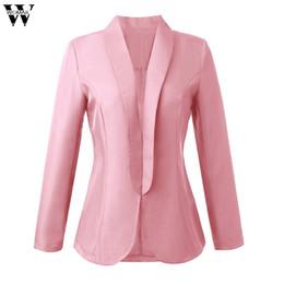 Offene kragenanzüge online-Womail 2019 New Fashion Damen Blazer Langarm Strickjacke mit offener Vorderseite Anzug Umlegekragen Strickblazer JL12 mujeres rompevientos