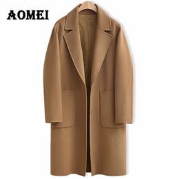 Mulheres Casuais Moda Casacos De Lã Oversize Inverno Moda Desgaste para Trabalhar Escritório Senhora Mistura De Lã Outwear Roupas Casaco Capa de Fornecedores de casaco de estilo coreano feminino cinza