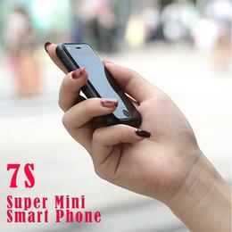 mini sim android мобильные телефоны Скидка Оригинал SOYES 7S 6S Super Mini Android Смарт-мобильный телефон MTK6580 Двухъядерный Dual SIM Двойной режим ожидания Разблокирована Карманный мобильный телефон