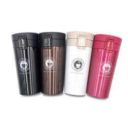 Молоко Кофе Чайные Чашки Фарфоровые Кружки Портативная кофейная чашка творческая вакуумная чашка из нержавеющей стали вакуумный студент подарок открытый прыгающая чашка новый от Поставщики экологически чистые пластиковые бутылки воды оптом