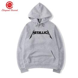 2019 sudadera metallica Hombres Sudaderas Con Capucha Heavy Metal Rock Band Metallica Impreso Sudadera Con Capucha Hip Hop Fleece Sudaderas Streetwear Hoody Marca Ropa Y10 # 345146 sudadera metallica baratos