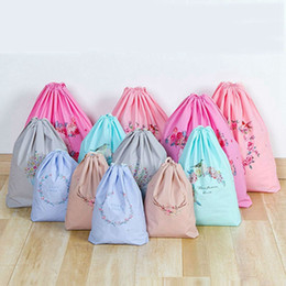 used clothes bags Coupons - waterproof plastic drawstring bag travel organizer storage wreath storage bag PE Folding Sport Home Travel Storage Use Gift Wrapping