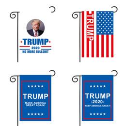 piccoli vasi di fiori smaltati Sconti 30 * 45CM Donald Trump bandiera da giardino nuovo design rende l'america grande ancora bandiere in poliestere bandiera spedizione gratuita