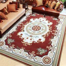 2020 alfombras de lujo Alta calidad imprimió lujo de estilo europeo de poliéster antideslizante Alfombra Alfombra con precio bajo y cómodo terciopelo corto rebajas alfombras de lujo