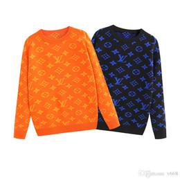 Print xx онлайн-2019 Luxury мужской свитер моды с длинными рукавами вензеля отпечатанных любителей свитер осень свободно облегающие пуловеры свитер Бесплатная доставка S-XX