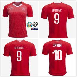 bd092aa7c Discount switzerland jersey - 2019 European Cup Swiss Soccer Jersey 2019  Switzerland Home red soccer Shirt