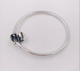 100% стерлингового серебра 925 Женские браслеты Белый CZ микро проложили сердце браслет с сумкой для Пандоры бусины европейские прелести 4 стиль от
