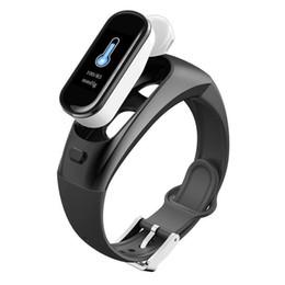 schrittzähler silber armbänder Rabatt H109 Color Headset Talk Smart band Bracelet Heart Rate Monitor Sports Smart Watch Talkband Passometer Fitness Tracker Wristband