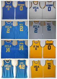 5164d3297 NCAA College UCLA Bruins 2 Lonzo Ball Jersey Men Basketball 42 Kevin Love 0  Russell Westbrook Jerseys 14 Zach LaVine University Blue White