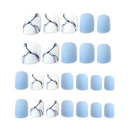 ELECOOL 24pcs Faux Ongles Décoration Marbre Motif Vernis À Ongles Mode Fini Nail Patch Faux Art Accessoires Avec De La Colle ? partir de fabricateur