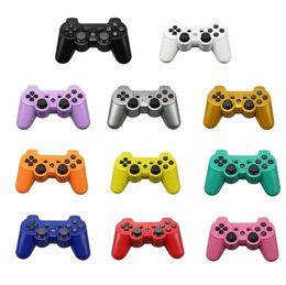 pieles al por mayor xbox Rebajas Controladores inalámbricos PS3 Controladores de juegos Bluetooth de 2,4 GHz Doble descarga para Playstation 3 Gamepad de Joysticks para PS3 con cajas de embalaje DHL