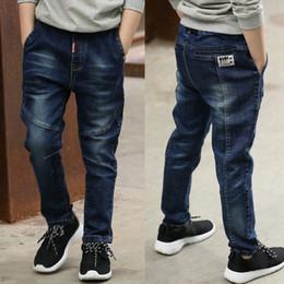 bambino dei jeans IENENS 5 13Y bambini vestiti dei ragazzi Skinny Pants breve classici denim dei bambini abiti lunghi e pantaloni neonato maschio