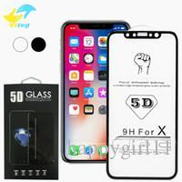 2019 iphone6 ​​glasabdeckung Für iphone 8 9 x xr xs max 5d gehärtetem glas gekrümmte displayschutzfolie für iphone6 ​​6s 7 8 plus x rand full cover film rabatt iphone6 ​​glasabdeckung