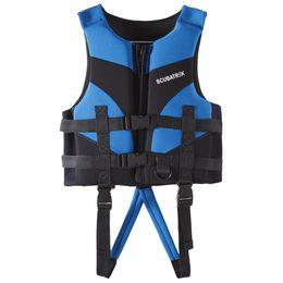 синий пляжный пиджак Скидка Дети спасательный жилет спасательный жилет для детей водные виды спорта плавание катание на лодках пляж лыжный дрейфующий жилет S / M / L XL синий красный