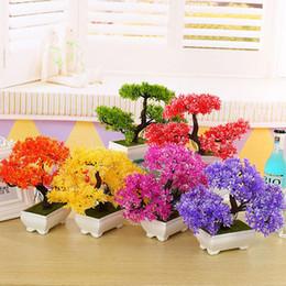 Hot artificielle chrysanthème Bonsai en pot plante Paysage Maison Floral Decor Allumé