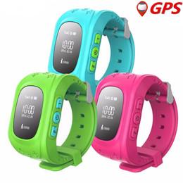 2019 oled relógios Anti Perdido Q50 Criança OLED Criança Rastreador GPS SOS Inteligente Posicionamento de Monitoramento Telefone Crianças GPS Relógio Do Bebê Compatível IOS Android desconto oled relógios
