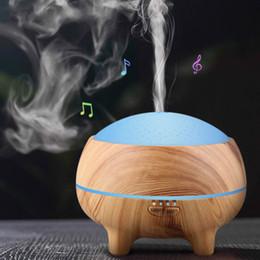 Canada Haut-parleur Bluetooth Lecteur de musique sans fil Humidificateur d'air Diffuseur d'huile essentielle Humidificateur Mist Maker LED Aromatherapy Haut-parleur domestique Offre