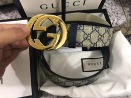 Canada Livraison gratuite 2019 nouveaux concepteurs chauds hommes de haute qualité en laiton massif boucle de luxe 100% réel ceintures en cuir véritable pleine fleur # 33 cheap grain belt Offre