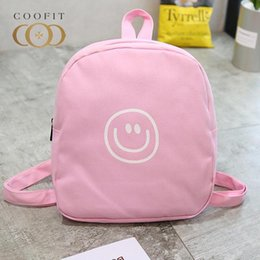 smiling faces cartoons Promo Codes - coofit 2017 Mini Backpack Cartoon Canvas Cute Smile Face School Backpack Travel Rucksack For Girls Mochilas Infantil Candy Color