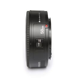 2019 caméra e Objectif de grande ouverture automatique 50MM F1.8 pour Canon EOS EF Mount Camera de haute qualité objectif de mise au point automatique caméra e pas cher