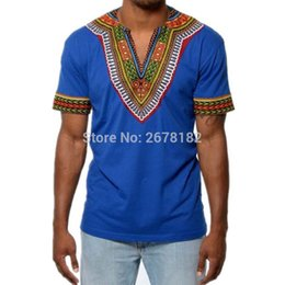 2019 traditionelle t-shirts Afrika-Kleidung afrikanisches Dashiki traditionelles Dashiki Maxi Mann-Hemd-Hemd Maxi T-Sommer-Mann-Kleidungs-T-Shirt günstig traditionelle t-shirts