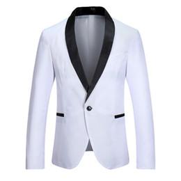 Costume de couleur contrastante en Ligne-Nouveau 2019 mode simple contraste couleur patchwork hommes blazer grande taille costume hommes occasionnels simple bouton luxe hommes conception blazer