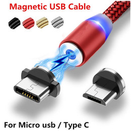 usb charger magnet Coupons - Fast Charge LED Micro USB Cable Magnetic USB Type-C USB Magnet Plug Data Charger Cable Charging Cable