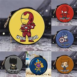 cargar billetera Rebajas Los Avengers mini zero Auriculares, cables de carga billetera Spider-Man Iron Man Capitán America Avengers El mejor regalo para los niños