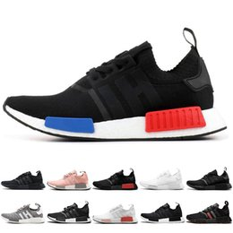 4443f31f9 2019 fashion NMD R1 OG Primeknit Running Shoes Classic Triple Red Black  Best Quality Men Women Sport Shoes Designer Sneakers Trainers 36-44 nmd r1  triple ...