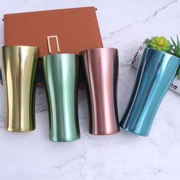 2020 té de camping Taza del acero inoxidable de metal de una sola capa de copa deporte vasos de colores de agua camping al aire libre que bebe el café té taza de cerveza LJA2405 rebajas té de camping