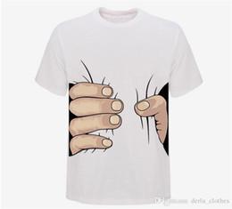 Nouvelle arrivée Top qualité grande main t-shirt! Vêtements femme homme impression chaude 3D t shirt mens t-shirt 100% coton S-XXXL 6 couleur ? partir de fabricateur
