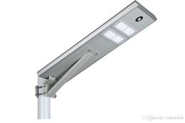 lampadaires post Promotion 30W intégré solaire panneau solaire mono de lampe extérieure imperméable de capteur de mouvement du capteur de mouvement de la lumière LED de réverbère solaire