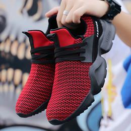 Zapatillas de deporte masculinas ligeras Tenis para hombres Zapatos deportivos Zapatillas de correr transpirabilidad correr Caminar casual talla grande 46 rojo desde fabricantes