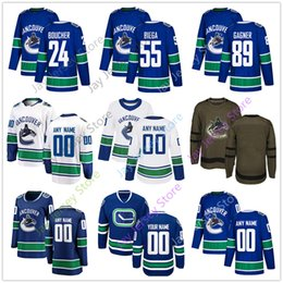 067aa8d351a Reid Boucher Alex Biega Sam Gagner Jersey 2019 Winter Classic Vancouver  Canucks Home Away New Third Women Youth Salute to Seriver