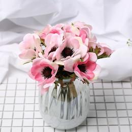 Розовый большой букет онлайн-Белые Искусственные Большие Цветы Розовый Шелк Большой Цветок Украшения Дома Бабочка Орхидея Поддельные Цветок Свадьба Невесты Ручной Букет