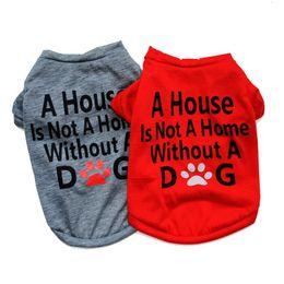 collar de perro pajarita mediano Rebajas Moda para mascotas Suministro de perro Ropa de perro Cachorro de algodón Gato Ropa para perros Camiseta 2 colores 4 tamaños