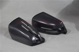 estilo carro espelho de fibra de carbono de substituição completa Matt Black Mercedes Benz W204 classe C C200 C260 C300 C63 2008 2009 2010 2011 de Fornecedores de tampa da tampa da tecla preto