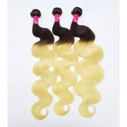 qualidade do cabelo brasileiro Desconto Cabelo brasileiro de alta qualidade tece onda do corpo ou em linha reta 1B / 613