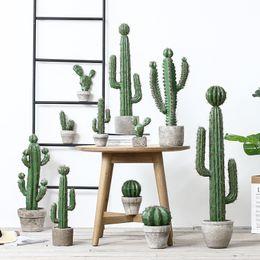 Insp nórdicos accesorios de fotografía cactus carnoso plantas artificiales lugar en maceta tienda de ropa cafetería decoración oficina flores artificiales desde fabricantes