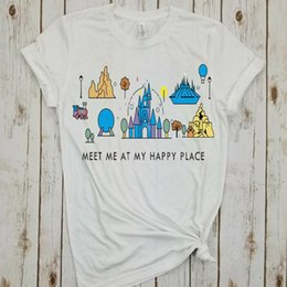 top place Coupons - new meet me at my happy place shirt animal kingdom tee plus size girls tops summer tshirt harajuku print tees cartoon