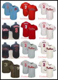 3 Bryce Harper Jersey Philliesss Flex Base para hombre Malla Retro Blanco rojo azul gris Cool Base Jugador Camisetas de béisbol desde fabricantes