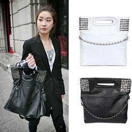 Bolso de cuero de pu pu coreano online-Lady Girls Fashion estilo coreano Pu cuero Hobo bolso bandolera Fab Women Bag
