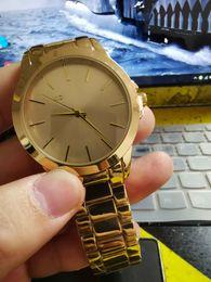 Logo relógios on-line-2018 Novo Estilo de Moda Mulheres Relógio Presente de Malha De Aço Relógio De Quartzo Senhoras Femininas MK LOGOTIPO Relógio Mulheres Relógio Relógios de Pulso relojes mujer