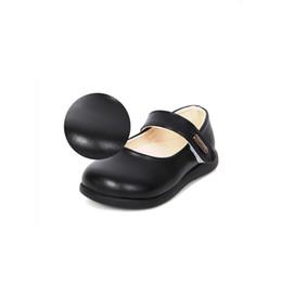 MSMAX Niños Zapatos De Cuero Redondo Dedo Del Pie Vaca Muscle Girls Vestido de Fiesta Zapatos HookLoop Niños Escolar Boda Individual desde fabricantes