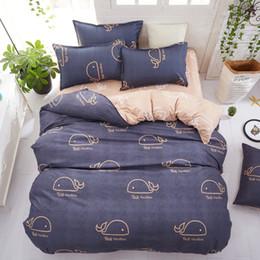 folhas planas de animal print Desconto Impressão reativa Animal design conjunto de cama roupa de cama folha de cama plana Conjunto de Cama rainha do rei Capa de Edredão Estilo Moderno