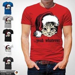 T-shirt rouge femme taille libre en Ligne-chat quel que soit noël t shirt secret cadeau santa mens toutes tailles